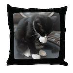Tuxedo Kitten Throw Pillow