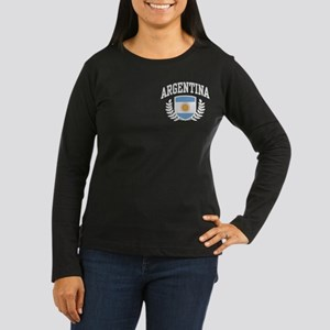 Argentina Women's Long Sleeve Dark T-Shirt