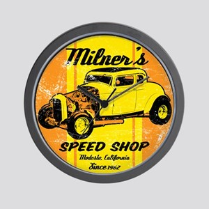 Milner's Speed Shop Wall Clock