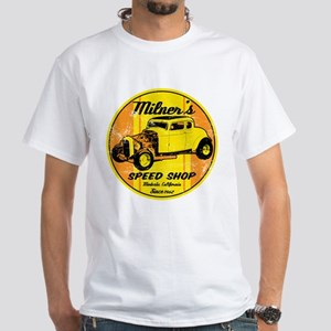 Milner's Speed Shop White T-Shirt