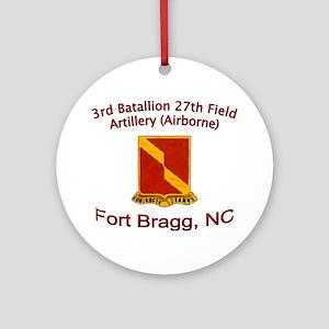 3rd Bn 27th FA Ornament (Round)