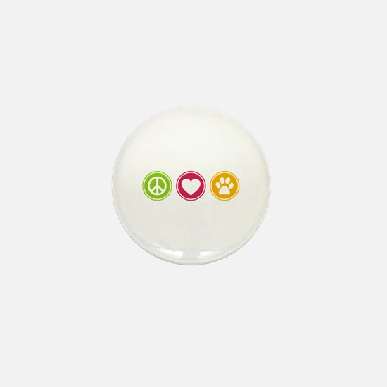 Peace - Love - Dogs Mini Button