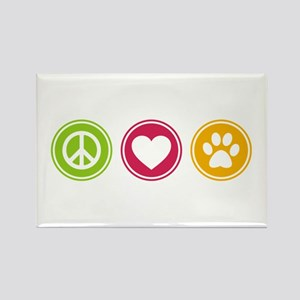 Peace - Love - Dogs Rectangle Magnet