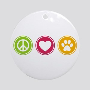 Peace - Love - Dogs Ornament (Round)