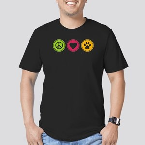 Peace - Love - Dogs Men's Fitted T-Shirt (dark)