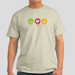 Peace - Love - Dogs 1 Light T-Shirt