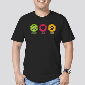 Peace - Love - Dogs 1 Men's Fitted T-Shirt (dark)