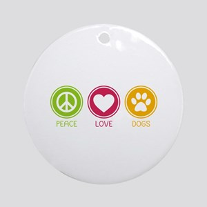 Peace - Love - Dogs 1 Ornament (Round)