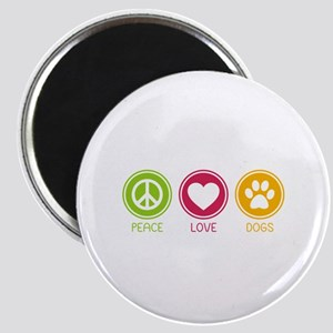 Peace - Love - Dogs 1 Magnet