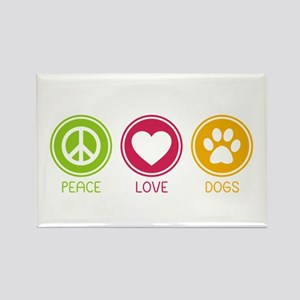 Peace - Love - Dogs 1 Rectangle Magnet