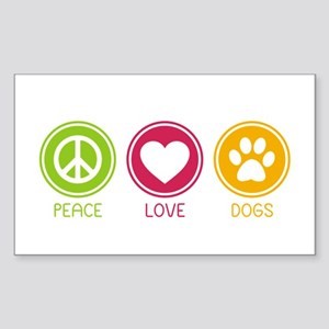 Peace - Love - Dogs 1 Sticker (Rectangle)