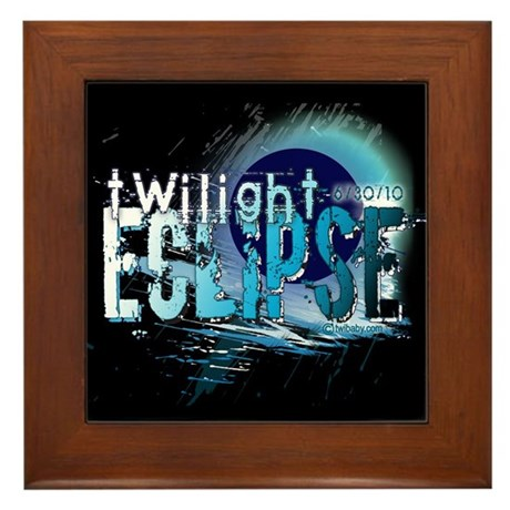 Eclipse Reflect Blue by Twiba Framed Tile