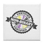 Certified Non-Binary Stamp Tile Coaster