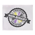 Certified Non-Binary Stamp Throw Blanket