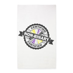 Certified Non-Binary Stamp Area Rug