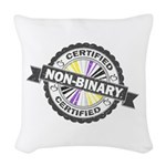 Certified Non-Binary Stamp Woven Throw Pillow