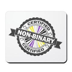 Certified Non-Binary Stamp Mousepad