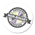 Certified Non-Binary Stamp Round Car Magnet