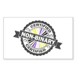 Certified Non-Binary Stamp Sticker (Rectangle)