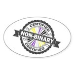Certified Non-Binary Stamp Sticker (Oval 10 pk)