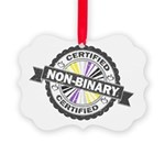 Certified Non-Binary Stamp Picture Ornament