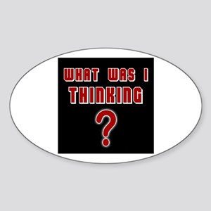 THE QUESTION IS - Sticker (Oval)