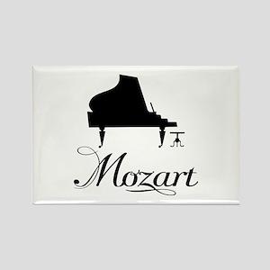 Piano Mozart Rectangle Magnet