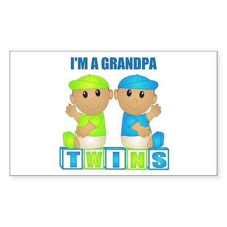 I'm A Grandpa (TBB:blk) Rectangle Sticker