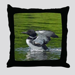 Beautiful Loon Throw Pillow