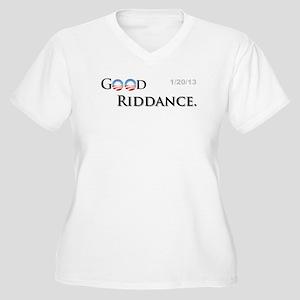 Good Riddance Women's Plus Size V-Neck T-Shirt