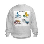 Dogs on Bikes Kids Sweatshirt