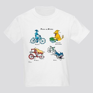 Dogs on Bikes Kids Light T-Shirt