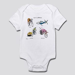 Cats on Bikes Infant Bodysuit