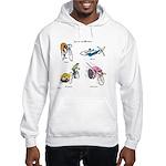 Cats on Bikes Hooded Sweatshirt