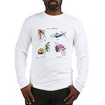 Cats on Bikes Long Sleeve T-Shirt