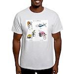 Cats on Bikes Light T-Shirt