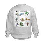 Bikes of the Animal Kingdom Kids Sweatshirt