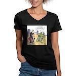 Flying Saucers Women's V-Neck Dark T-Shirt