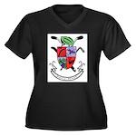 Human Power Women's Plus Size V-Neck Dark T-Shirt