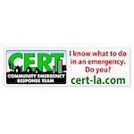 CERT LA Bumper Stickers (Bumper 50 pk)