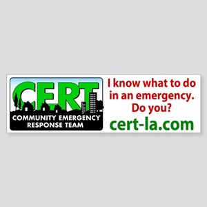 CERT-LA Bumper Sticker