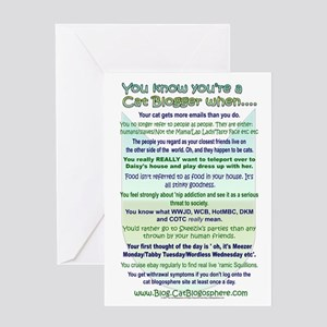 You Know You're a Cat Blogger Greeting Card