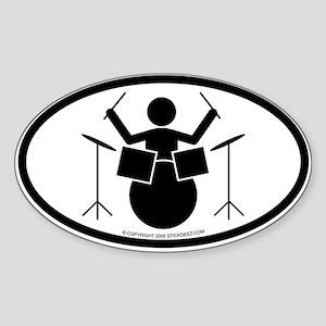 """""""Drummer"""" - Sticker(Oval)"""