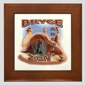 Zion,Bryce, and Arches Framed Tile
