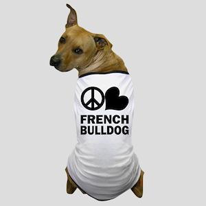 Peace Love French Bulldog Dog T-Shirt
