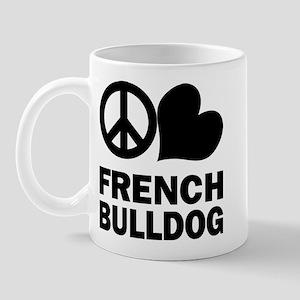 Peace Love French Bulldog Mug