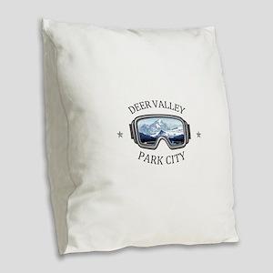 Deer Valley - Park City - U Burlap Throw Pillow