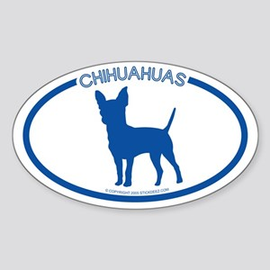 """Chihuahuas"" - Oval Sticker"