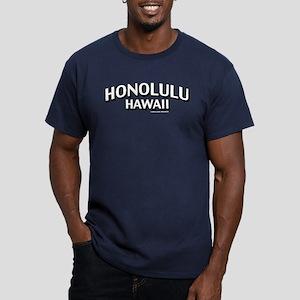 Honolulu Hawaii Men's Fitted T-Shirt (dark)