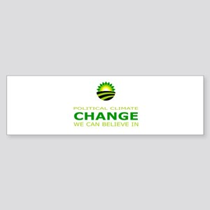 political climate change Sticker (Bumper 10 pk)